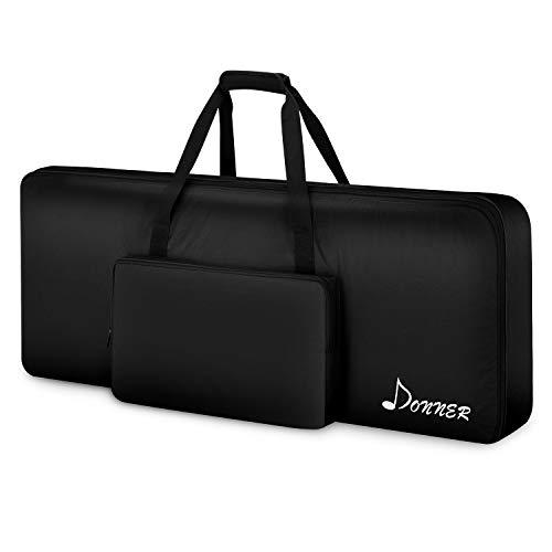 "Donner 61 Key Keyboard Case Bag, Electric Piano Padded Case Gig Bag 40""x16""x6"" Black"