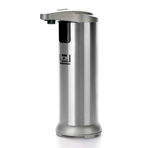 MABOLON Soap Dispenser, Touchless Automatic Soap Dispenser,304 Stainless Steel Hands-Free Motion Sensor Liquid Dish Soap Dispenser for Kitchen&Bathroom(5 Level Volume Control,Low Power Indicator) …