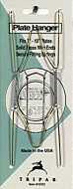 7''-10'' Plate Hanger Brass Wire Finish Holder