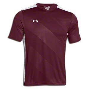 (Under Armour UA Fixture Soccer Jersey LG Maroon)