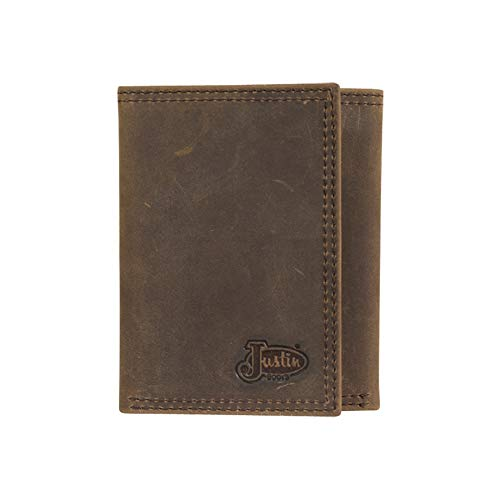 Justin Boot Company Dark Taupe Trifold Leather