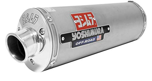Yoshimura RS-3 Comp-Series Full System - Stainless Steel Muffler - Aluminum End Cap , Material: Stainless Steel, Color: Silver D461AFS-SA