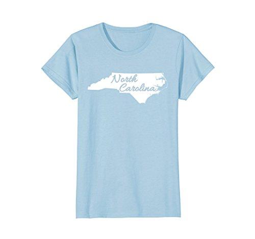 Womens North Carolina State T Shirt Home Tee I Love Nc Shirt Xl Baby Blue