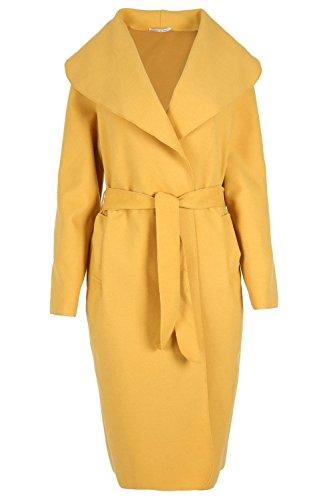 Mustard Wamtextiles à Manteau femmes manches longues pour wAp1wqY