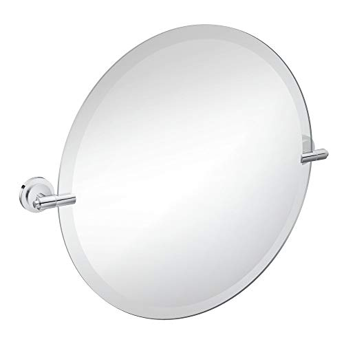 Moen DN0792CH Iso 22-Inch x 22-Inch Frameless Pivoting Bathroom Tilting Mirror, -