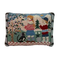 12x16 Inches Needle Point Pillow, Spring Mountain Children, Cat