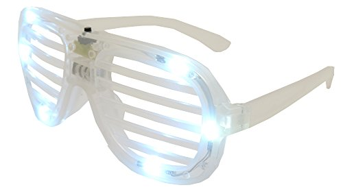 White LED Flashing Shutter Slotted Shade Party Dance Spirit Sun - Kanye Shutter Shades