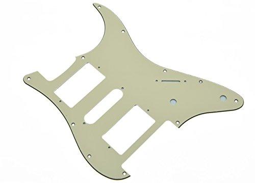KAISH 11 Hole Aged White ST Strat Floyd Rose HSH Pickguard Scratch Plate for Fender (Pickguard Floyd Rose)
