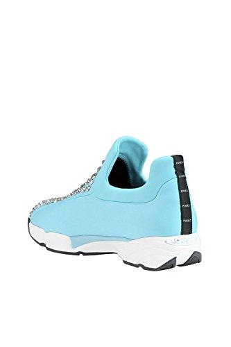 Pinko Slip On Sneakers Donna MCGLCAK03000E Tessuto Azzurro