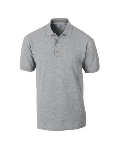 Gildan Ultra Cotton TM gekämmte ringgesponnene Piqué-Polo Erwachsenen L,RS Sport Grau