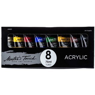 Master's Touch 8-Color Acrylic Paint Set (Touch Of Color Paint compare prices)
