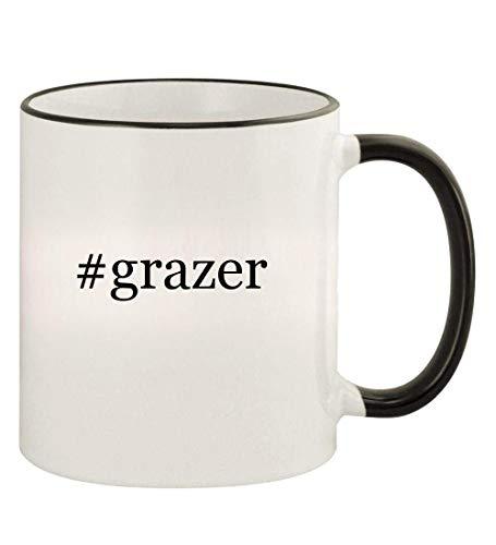 #grazer - 11oz Hashtag Colored Rim and Handle Coffee Mug, Black