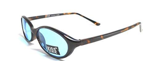 Womens Kiss Tortoise Plastic Vintage Fashion Sunglasses Shades Blue - Sunglasses Blue Framed