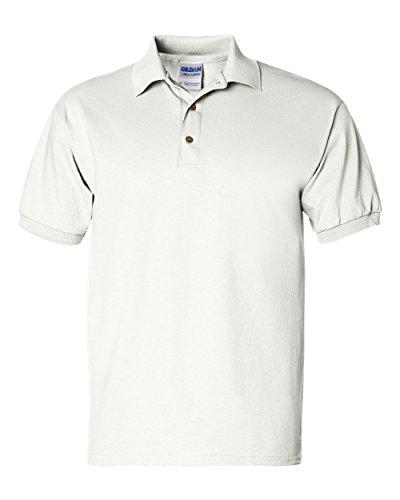 Gildan Adult Ultra CottonTM Jersey Polo 2800 - White_M