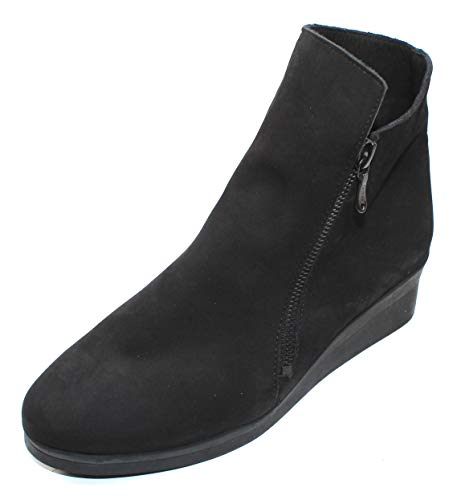 Arche Women's 'Abelem' Wedge Zip Boot in Black (40 M EU)