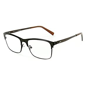 "Aloha Eyewear Men's ""Olympus"" Optical-Quality RX-Able Retro Square Frames 53x17x145mm (Bronze)"