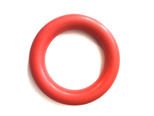 Natural and Durable Rubber Dog Toy Ring for Aggressive Chewers and Tug of War and Fetch by Nibble Pet Products