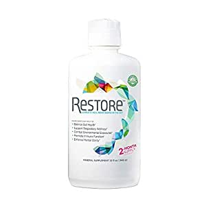 RESTORE for Gut Health | Restore 4 Life Terrahydrite Humic Substances & Mineral Amino Acid Complexes for Digestive Wellness, Immune Function, Environmental Factors, Mental Clarity | (32 ounces)