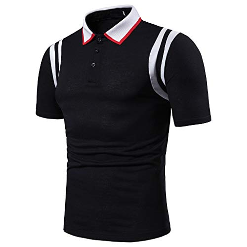 Men's Athletic Golf Polo Shirts,MmNote Bodybuilding Body Shaper Sweat-Wicking Technology Lightweight Short Sleeve Black