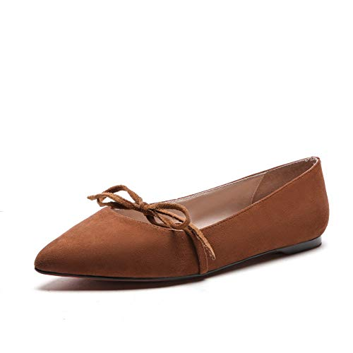 Casual Structured APL10961 Womens Pumps BalaMasa Brown Urethane Shoes Bows Solid xZIwnqTFa