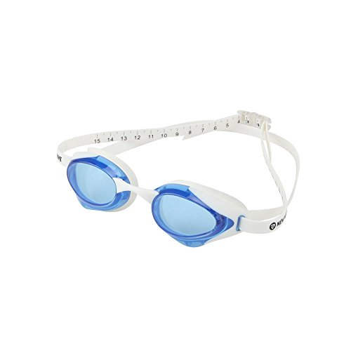 New Wave Fusion Swim Goggles (Blue Lens in White Frame) Blue - Goggles New