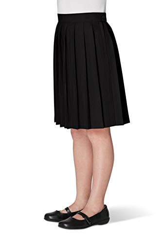 French Toast Big Girls Pleated Skirt, Black, 16 by French Toast