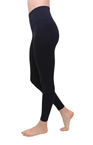 90 Degree By Reflex High Waist Squat Proof Ankle Length Interlink Leggings - Black - Small