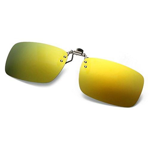 Driving de de unisex Huicai Dorado miopía Mercurio para en gafas Clip Fishing Outdoor sol Polarized gafas 1axw7xqz