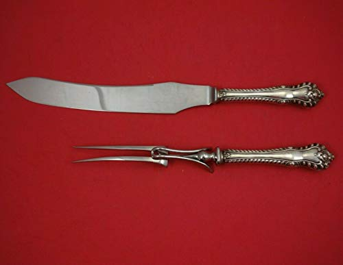 Gadroon by Birks Sterling Silver Roast Carving Set 2 Piece Knife and Fork HHWS