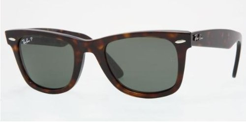 Ray-Ban Sunglasses 2140 Wayfarer 902/58 Tortoise Green Polarized 47mm - Small Sunglasses Wayfarer 47mm