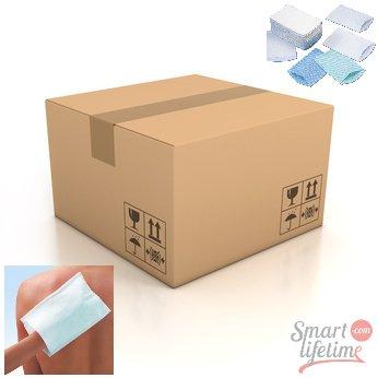 Gohy - Carton de 500 gants de toilette jetables PRESAVONNES 75g/m² - 156 x 230 mm 31007