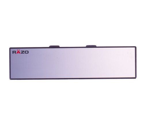 Razo RG20 10.6' Black Frame Wide Angle Flat Rear View Mirror - Pack of 1 KEYU1