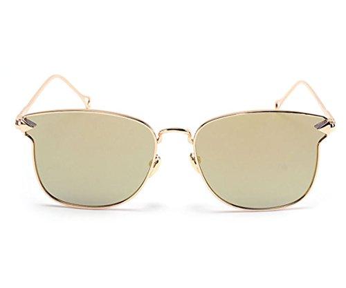 Heartisan Oversized Color Flash Mirror Full Rimmed Arrow Frame Fashion Sunglasses - Oakleys 2016 Best Fake