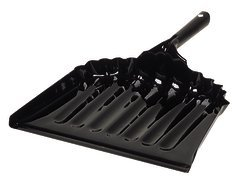 Carlisle 3623603 Flo-Pac Steel Metal Dustpan, 12'' Length, Black (Pack of 12) by Carlisle