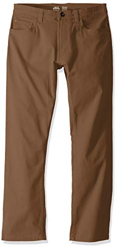 IZOD Men's Saltwater Stretch Flat Front Straight Fit Chino Pant, Legacy Cognac, 36W x 29L (Dark Tan Linen)