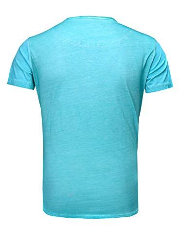 shirt Turquoise Rose Homme T Regardez Hut Zylinder Deluxe Tanaka Crâne Akito Millésime q1ptg