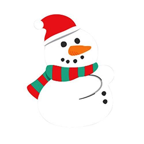 EBHRDFFA Package of 50- Jolly Felties Snowmen in Top Hats with Sticky Backs (Red ()