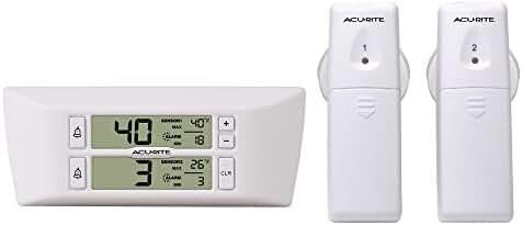 AcuRite 00986A2 Refrigerator/Freezer Wireless Digital Thermometer