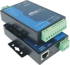MOXA NPort 5232 w/adapter - 2 Ports RS-422/485 Device Server, 10/100 Ethernet, Terminal Block, 15KV ESD, 12-30VDC, 0 to 55°C Operating Temperature