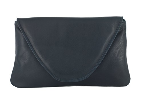 Party Leather Womens Attractive Wedding Large Bag Bag Bag Real Navy Occasion Clutch Loni Shoulder fvIqd
