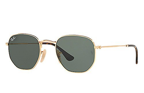 Amazon.com: Ray-Ban METAL MAN SUNGLASS - GOLD Frame COPPER FLASH ...
