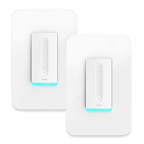 Wemo Dimmer Wi-Fi Light Switch 2-pack, Works with Amazon Alexa and Google Assistant