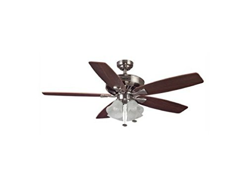 "52"" Honeywell Hamilton Ceiling Fan, Brushed Nickel"