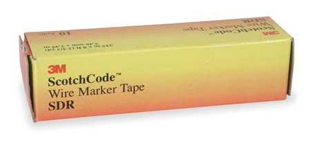3M ScotchCode Wire Marker Tape Refill Roll, SDR-0-9, 10 rolls numbering 0 thru 9