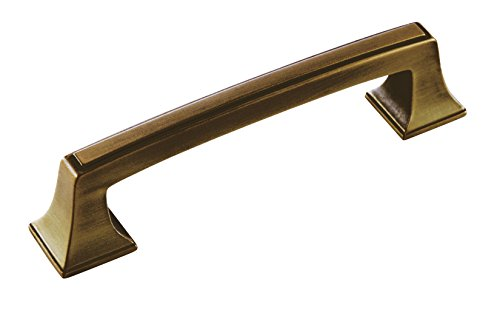 Amerock BP53031GB Mulholland Pull, 3-3/4 in (96 mm) Center-to-Center, Gilded Bronze Amerock Mulholland Cabinet Knob