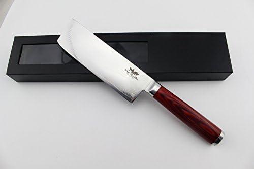 Amazon.com: Wolfgang cubertería acero de Damasco cuchillo ...
