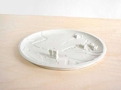 City Plate Rotterdam - porcelain holland netherlands pottery plates maps art
