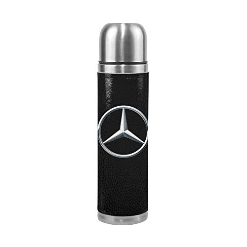 BOSIJCAI New Thermos Flask Mercedes Benz Logo Business Thermal Cup for Hot/Cold Drink Coffee Or Tea Gray