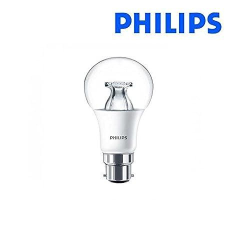 Philips bombilla LED A60 GLS Dimtone DT B22 bayoneta 9 W=60 W: Amazon.es: Iluminación