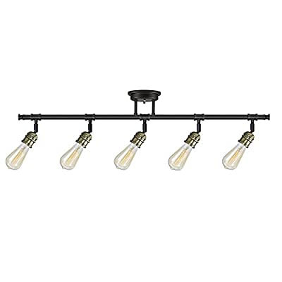 Globe Electric 59328 Rennes 5-Light Track Lighting Bulbs Included, Oil Rubbed Bronze